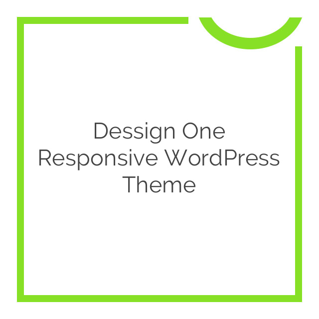 Dessign One Responsive WordPress Theme 2.0.1