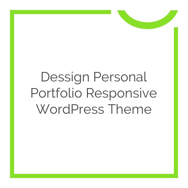 Dessign Personal Portfolio Responsive WordPress Theme 2.0.1
