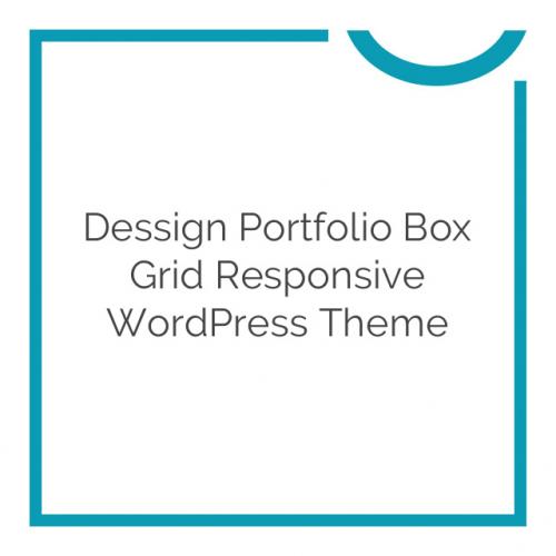 Dessign Portfolio Box Grid Responsive WordPress Theme 2.0.1
