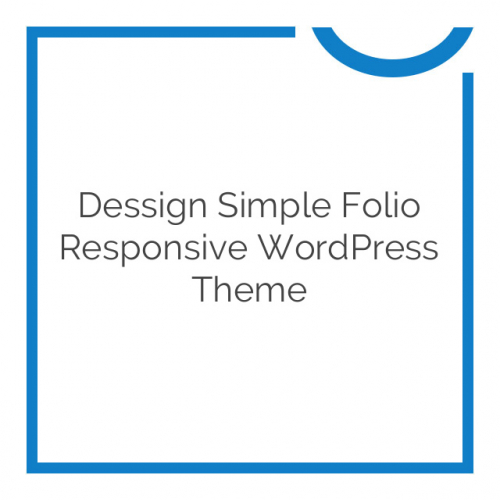 Dessign Simple Folio Responsive WordPress Theme 1.2.1
