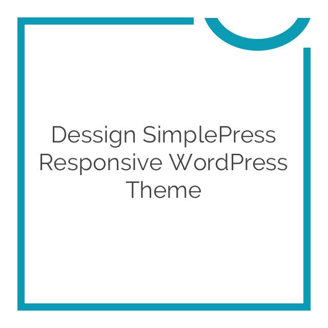 Dessign SimplePress Responsive WordPress Theme 1.2.1