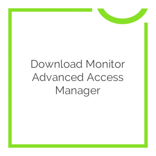 Download Monitor Advanced Access Manager 1.2.0