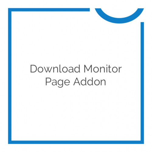 Download Monitor Page Addon 1.2.5