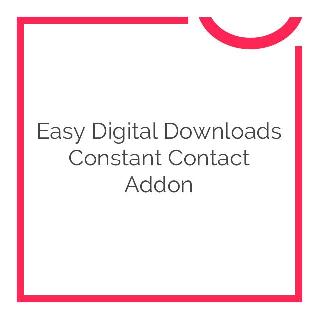 Easy Digital Downloads Constant Contact Addon 1.0.0