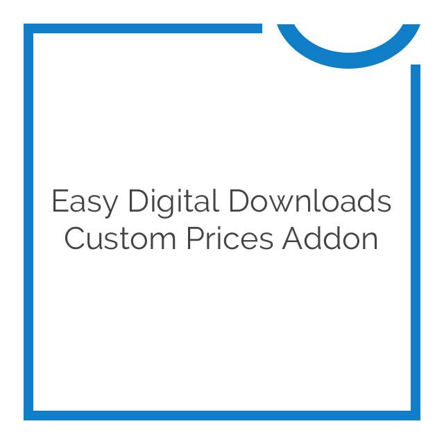 Easy Digital Downloads Custom prices Addon 1.5.4