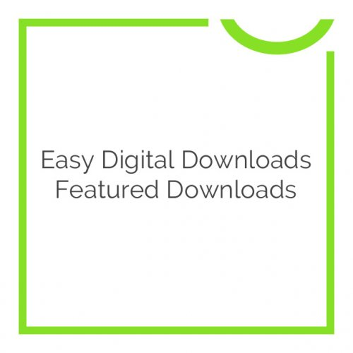 Easy Digital Downloads Featured Downloads 1.0.3