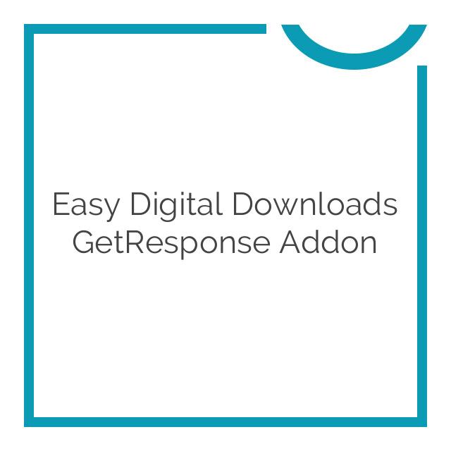 Easy Digital Downloads GetResponse Addon 2.1.2