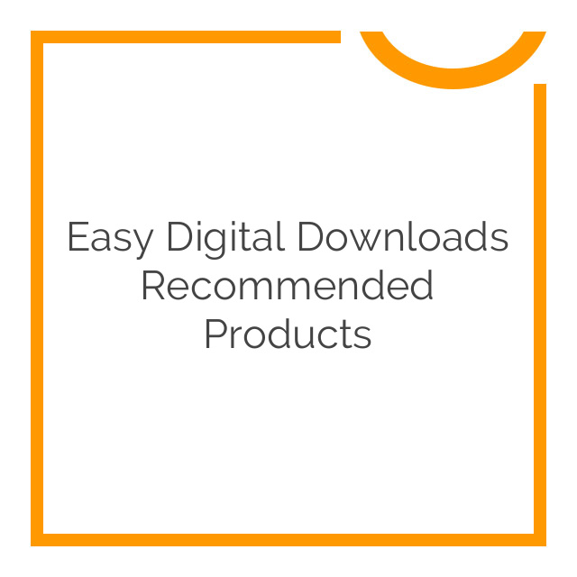 Easy Digital Downloads Recommended Products 1.2.12