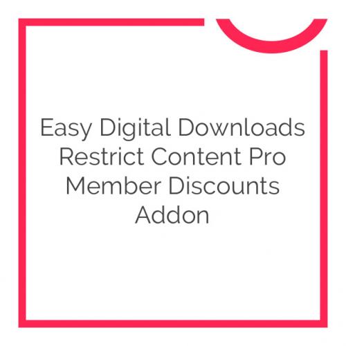 Easy Digital Downloads Restrict Content Pro Member Discounts Addon 1.1.4