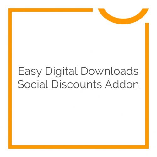 Easy Digital Downloads Social Discounts Addon 2.0.3