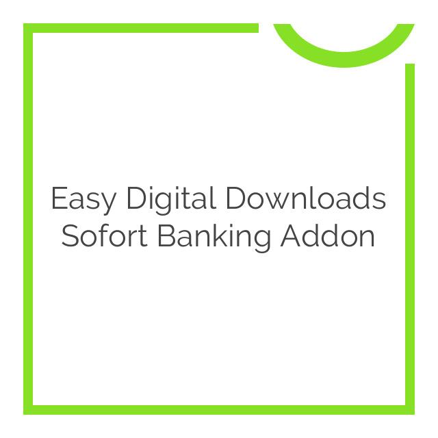 Easy Digital Downloads Sofort Banking Addon 1.0