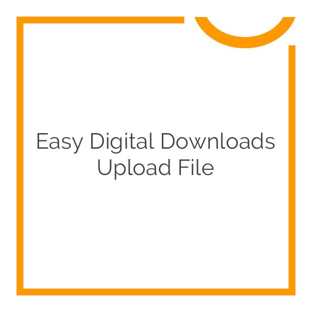 Easy Digital Downloads Upload File 2.1.2