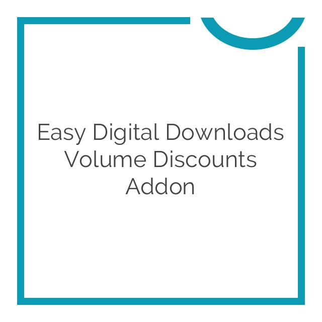 Easy Digital Downloads Volume Discounts Addon 1.3.1