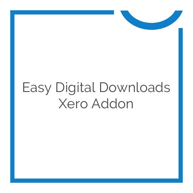 Easy Digital Downloads Xero Addon 1.2.10