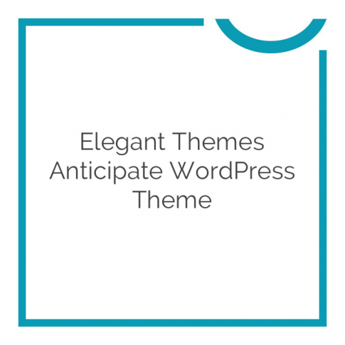 Elegant Themes Anticipate WordPress Theme 1.7.1