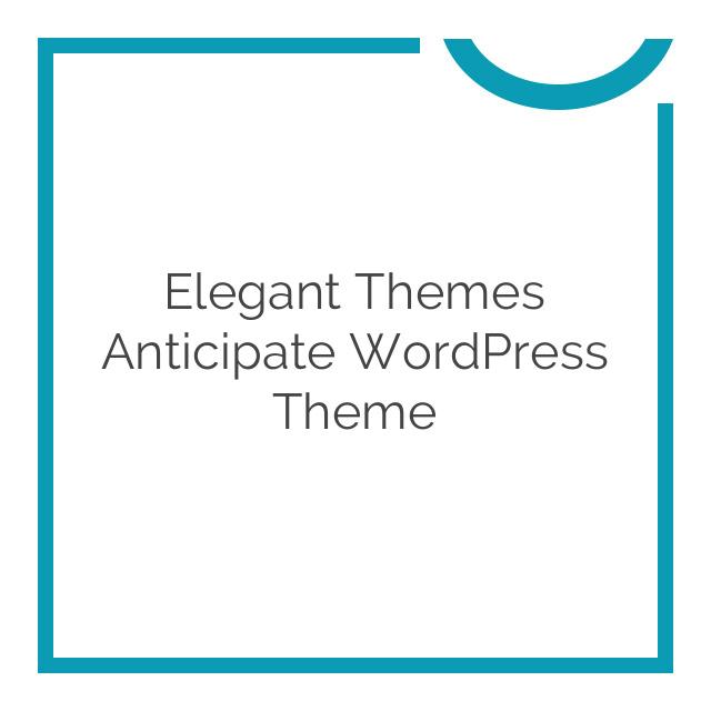 Elegant Themes Anticipate WordPress Theme 1.7.1