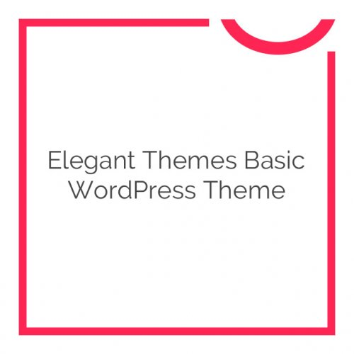 Elegant Themes Basic WordPress Theme 6.5.6