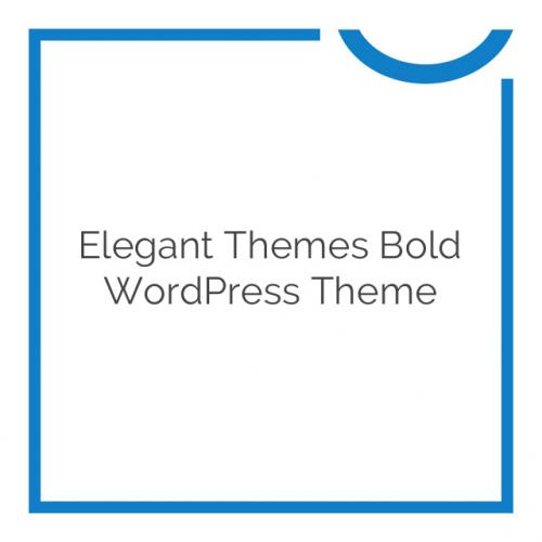 Elegant Themes Bold WordPress Theme 6.5.6