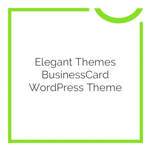 Elegant Themes BusinessCard WordPress Theme 4.4.5