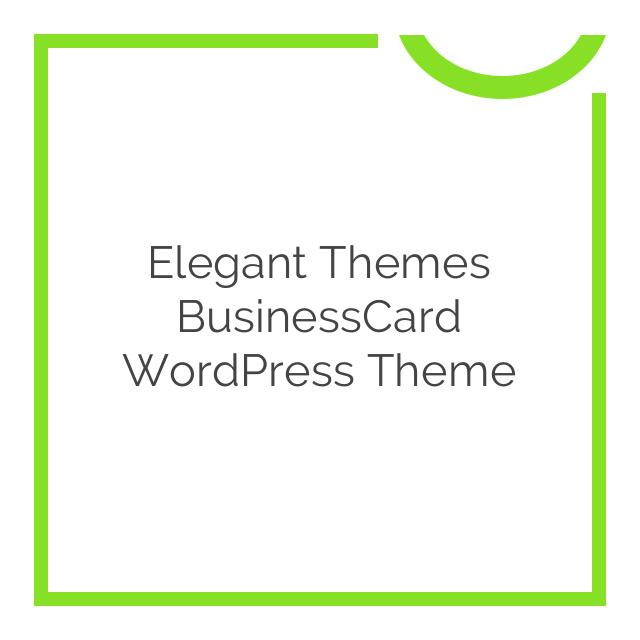 Elegant Themes BusinessCard WordPress Theme 4.4.5