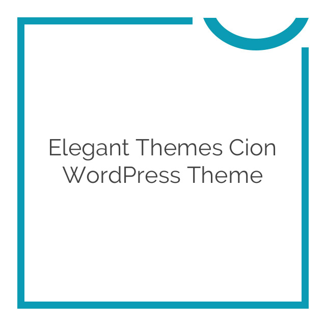 Elegant Themes Cion WordPress Theme 6.4.6