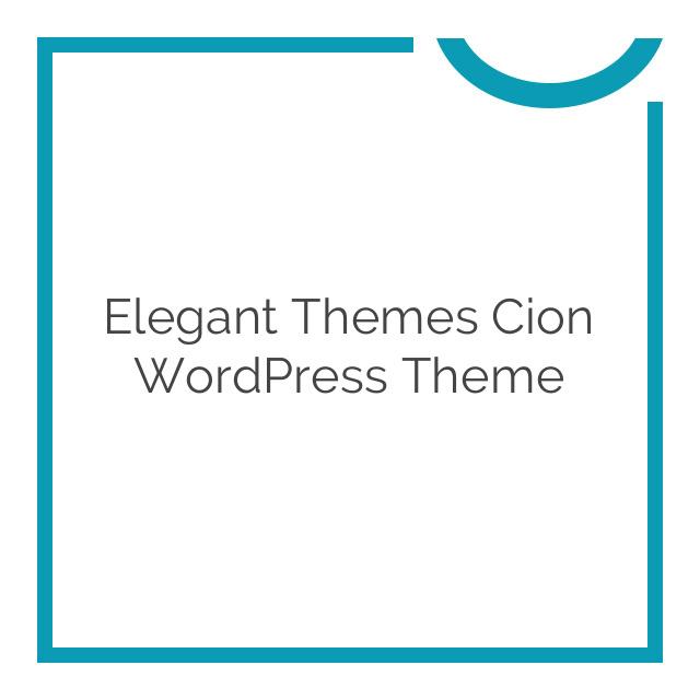 Elegant Themes Cion WordPress Theme 6.4.6