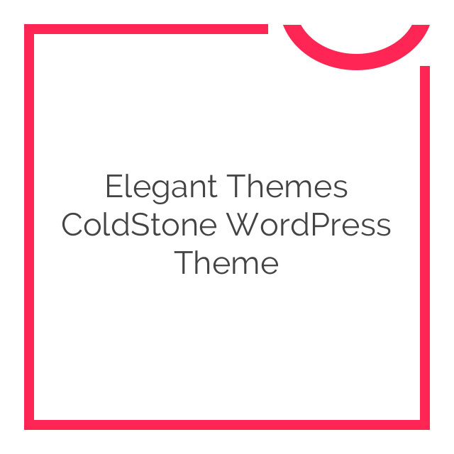 Elegant Themes ColdStone WordPress Theme 6.7.6