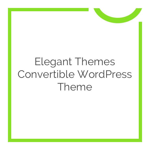 Elegant Themes Convertible WordPress Theme 3.6.6