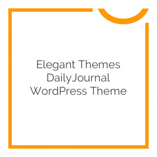 Elegant Themes DailyJournal WordPress Theme 2.6.7