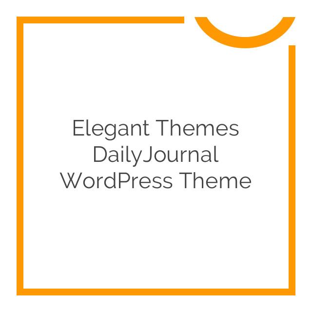Elegant Themes DailyJournal WordPress Theme 2.6.7