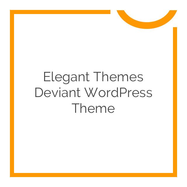 Elegant Themes Deviant WordPress Theme 4.5.6