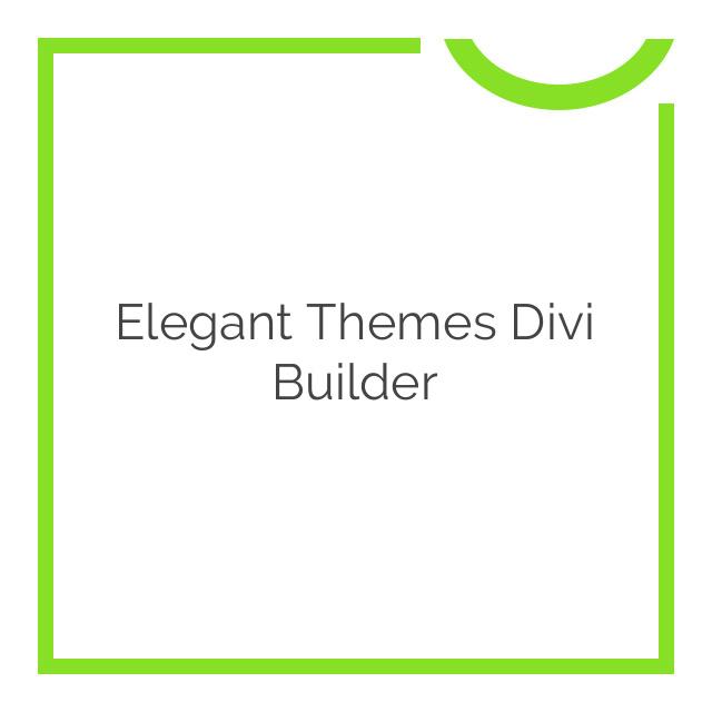 Elegant Themes Divi Builder 2.0.54