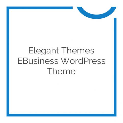 Elegant Themes eBusiness WordPress Theme 6.8.6