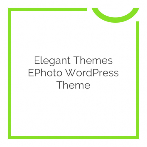 Elegant Themes ePhoto WordPress Theme 7.0.6