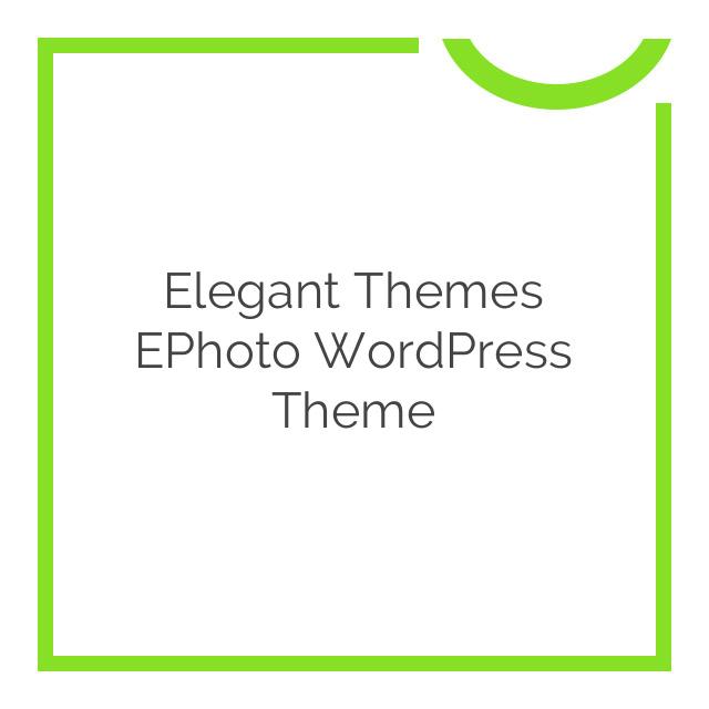 Elegant Themes ePhoto WordPress Theme 7.0.6