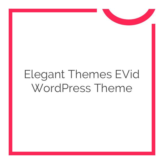 Elegant Themes eVid WordPress Theme 4.6.6