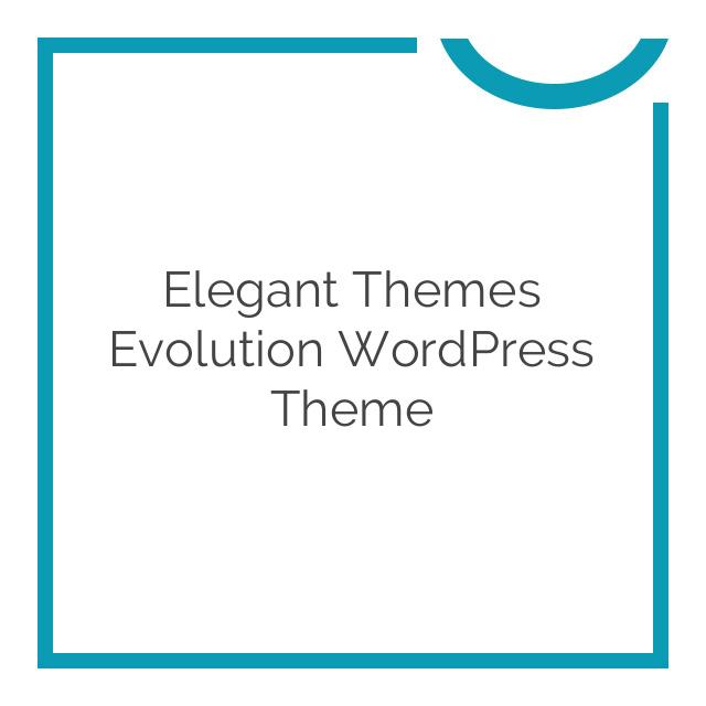 Elegant Themes Evolution WordPress Theme 3.0.8