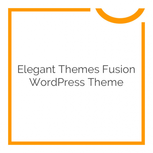 Elegant Themes Fusion WordPress Theme 5.0.6
