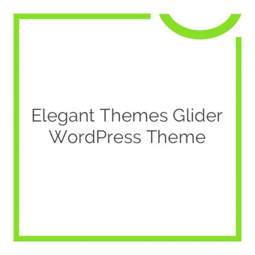 Elegant Themes Glider WordPress Theme 4.4.6