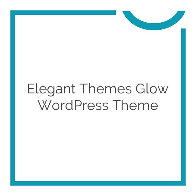 Elegant Themes Glow WordPress Theme 5.1.6