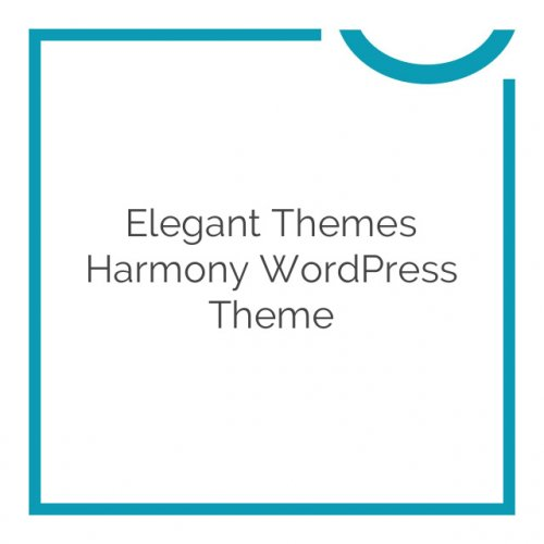 Elegant Themes Harmony WordPress Theme 2.4.12