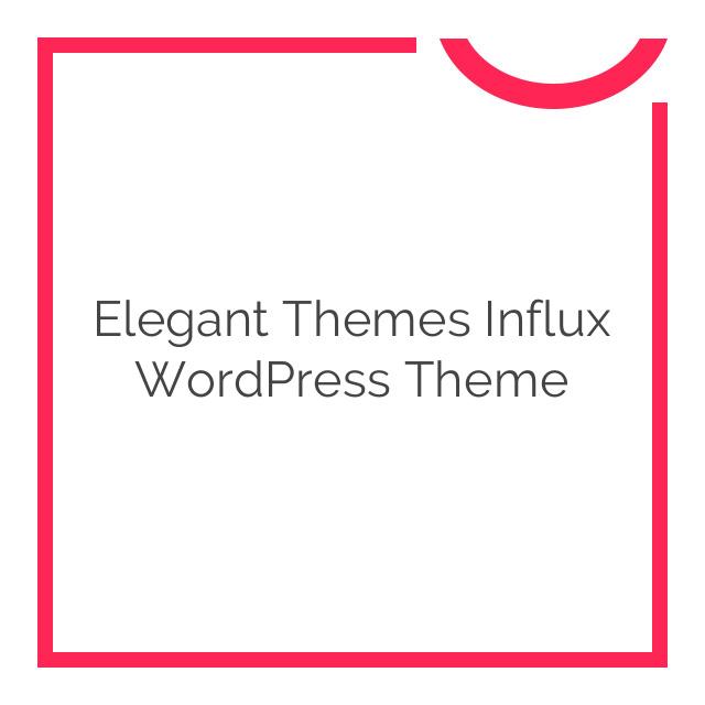 Elegant Themes Influx WordPress Theme 4.3.6