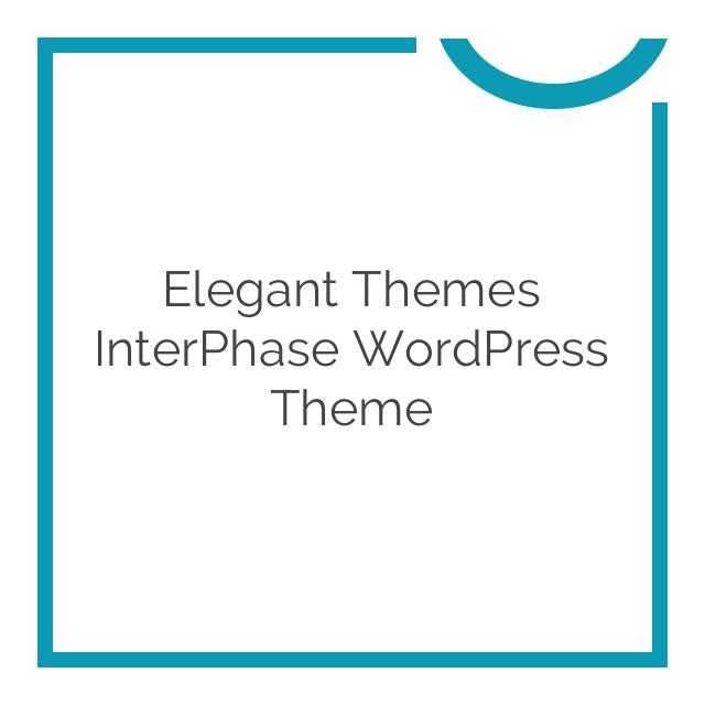 Elegant Themes InterPhase WordPress Theme 5.1.6