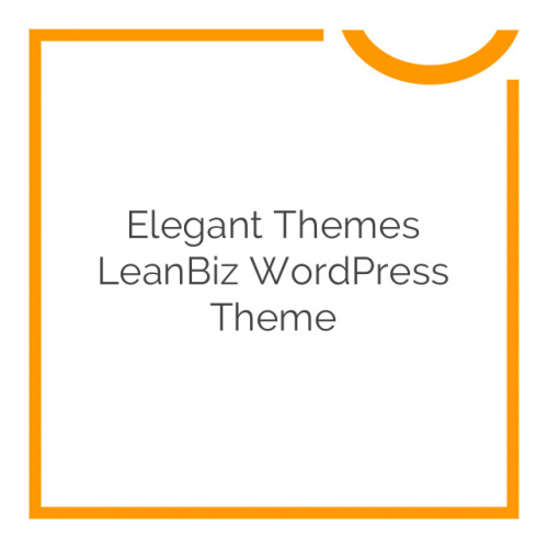 Elegant Themes LeanBiz WordPress Theme 3.4.7