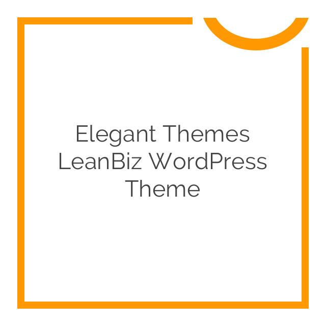 Elegant Themes LeanBiz WordPress Theme 3.4.7
