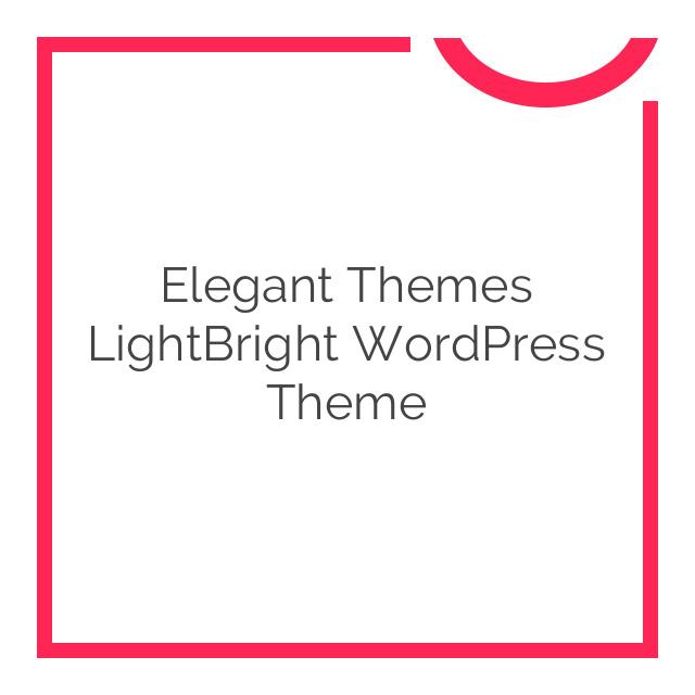 Elegant Themes LightBright WordPress Theme 4.7.6