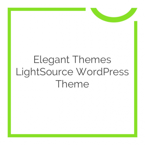 Elegant Themes LightSource WordPress Theme 4.3.6