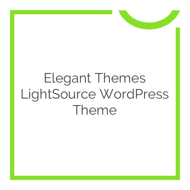 Elegant Themes LightSource WordPress Theme 4.3.6
