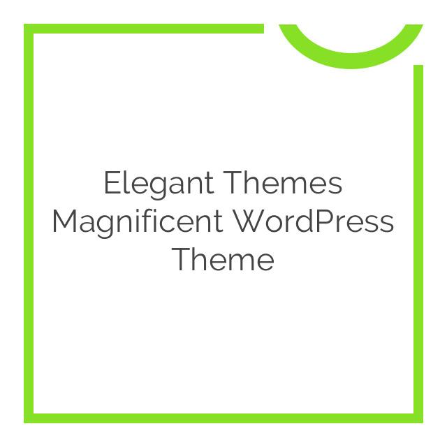 Elegant Themes Magnificent WordPress Theme 3.8.6