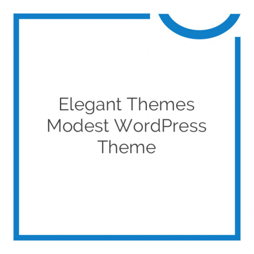 Elegant Themes Modest WordPress Theme 3.9.6